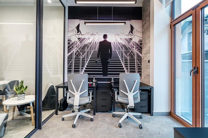 Wizualizacja powierzchni biurowej inkubatora